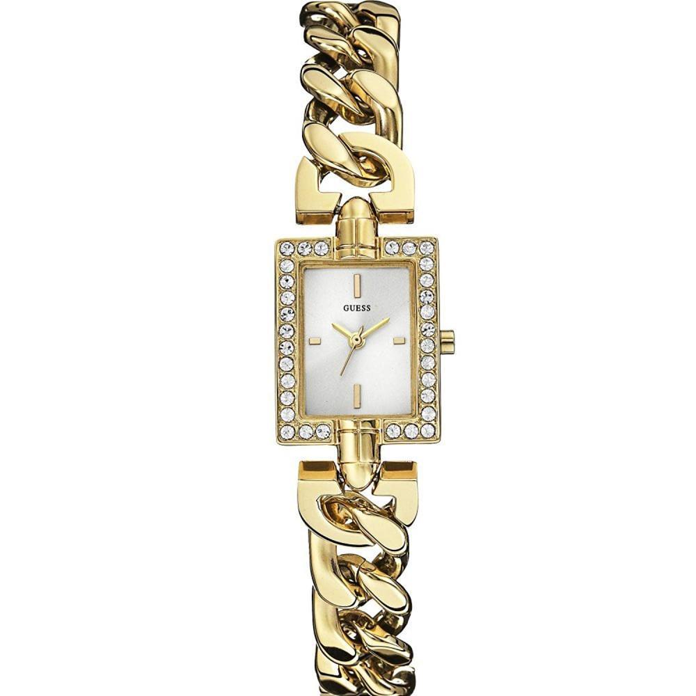 ゲス GUESS 腕時計 レディース Mini Mod Guess Women's W0540L2 Quartz Watch with White Dial Analogue Display and Gold Stainless Steel Strapゲス GUESS 腕時計 レディース Mini Mod