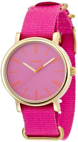 腕時計 タイメックス レディース 【送料無料】Timex Women's Quartz Watch with Pink Dial Analogue Display and Pink Nylon Strap T2P364PF腕時計 タイメックス レディース