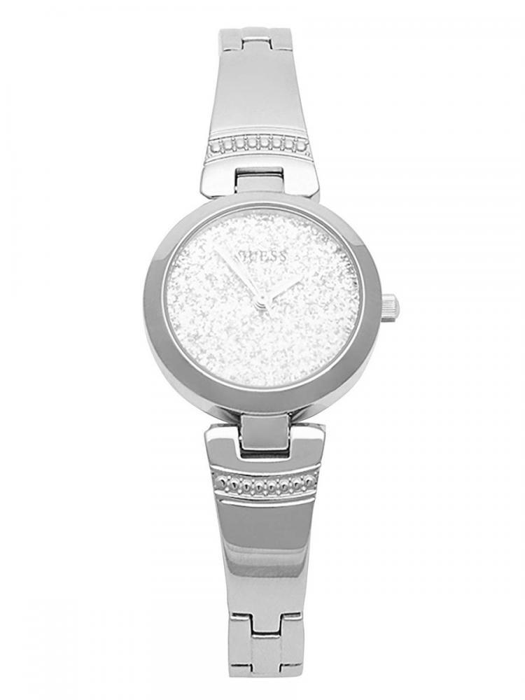 無料ラッピングでプレゼントや贈り物にも 逆輸入並行輸入送料込 腕時計 正規逆輸入品 ゲス GUESS レディース 送料無料 Women's 驚きの価格が実現 Glitter Factory Silver-Tone and Watch腕時計