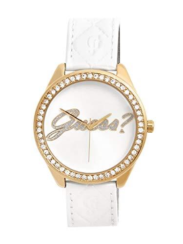 ゲス GUESS 腕時計 レディース 【送料無料】GUESS Factory White and Gold-Tone Logo Watchゲス GUESS 腕時計 レディース