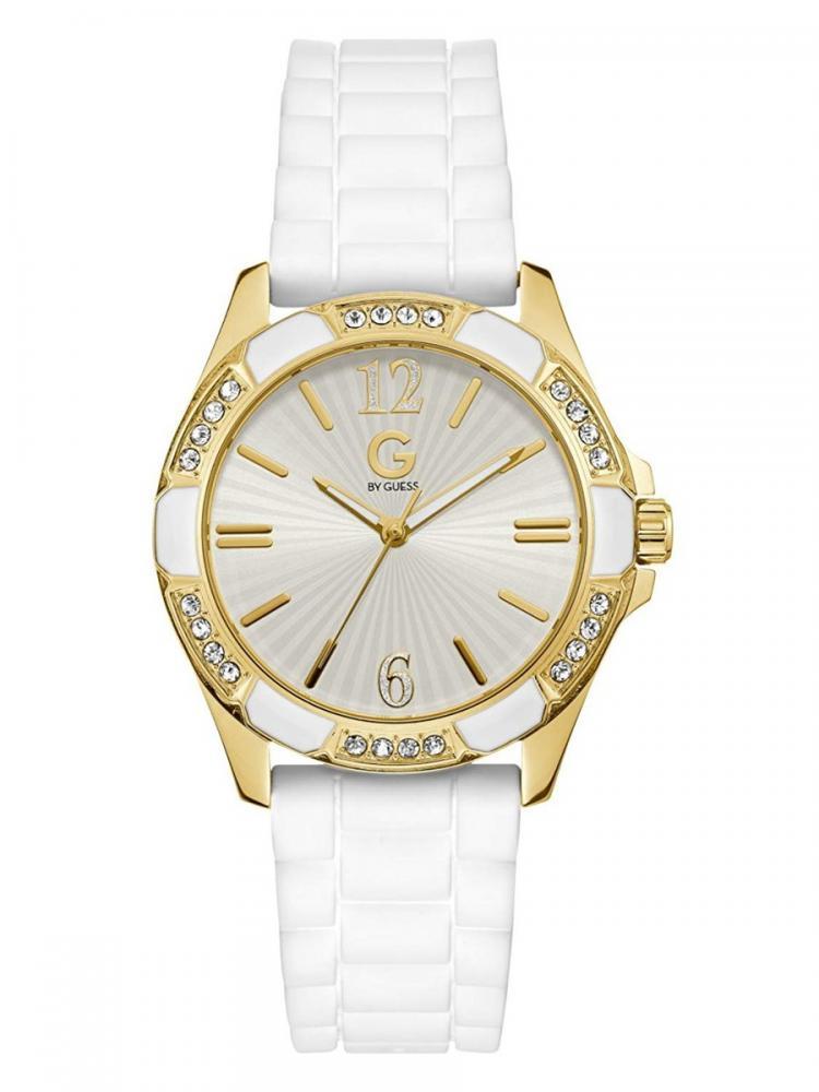 ゲス GUESS 腕時計 レディース 【送料無料】G By Guess White and Gold-Tone Silicone Watchゲス GUESS 腕時計 レディース