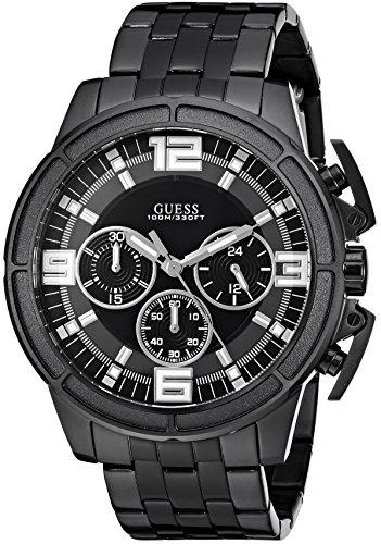ゲス GUESS 腕時計 メンズ GUESS Men's Japanese-Quartz Watch with Stainless-Steel Strap, Color: Black, 22: ((Model: U1114G1))ゲス GUESS 腕時計 メンズ