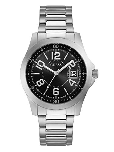 ゲス GUESS 腕時計 メンズ 【送料無料】GUESS Men's Japanese-Quartz Watch with Stainless-Steel Strap, Color: Silver-Tone, 21 (Model: U1103G1)ゲス GUESS 腕時計 メンズ