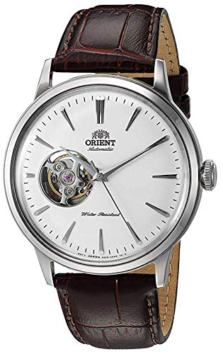 オリエント 腕時計 メンズ 【送料無料】Orient Men's Bambino Open Heart Stainless Steel Japanese-Automatic Watch with Leather Strap, Brown, 20 (Model: RA-AG0002S10A)オリエント 腕時計 メンズ