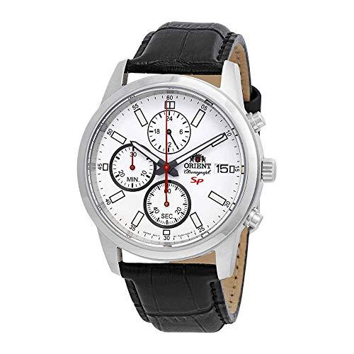オリエント 腕時計 メンズ 【送料無料】Orient Sporty Chronograph White Dial Men's Watch FKU00006Wオリエント 腕時計 メンズ