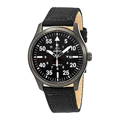 オリエント 腕時計 メンズ 【送料無料】Orient Flight Black Dial Black Leather Men's Watch FUNG2003Bオリエント 腕時計 メンズ