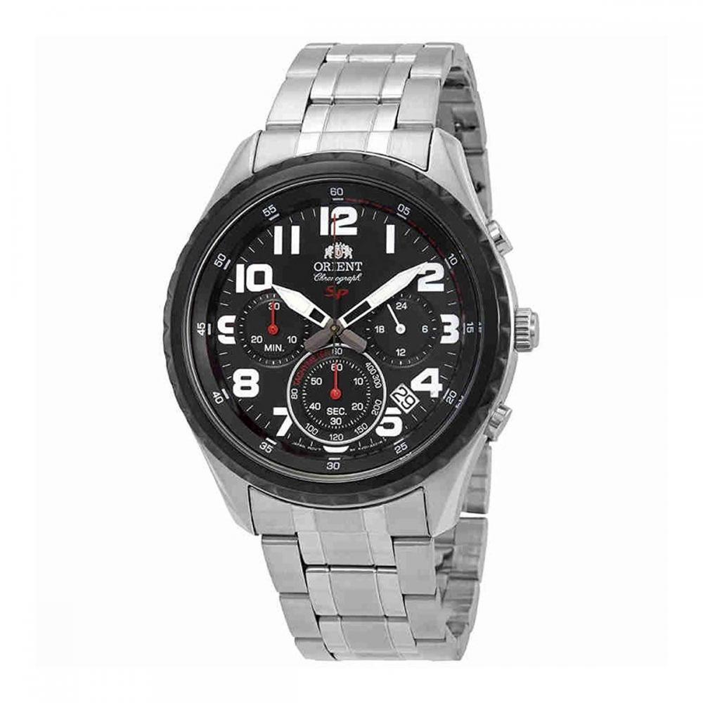 オリエント 腕時計 メンズ 【送料無料】Orient Sporty Chronograph Black Dial Men's Watch FKV01001Bオリエント 腕時計 メンズ