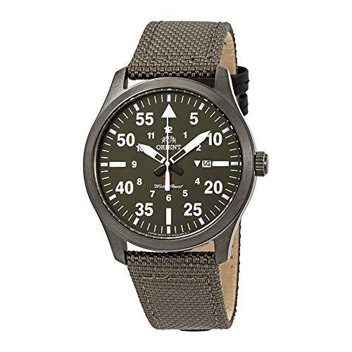 オリエント 腕時計 メンズ 【送料無料】Orient Flight Green Dial Green Canvas Men's Watch FUNG2004Fオリエント 腕時計 メンズ