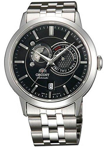オリエント 腕時計 メンズ 【送料無料】Orient Sun and Moon Automatic Black Dial Mens Watch FET0P002B0オリエント 腕時計 メンズ