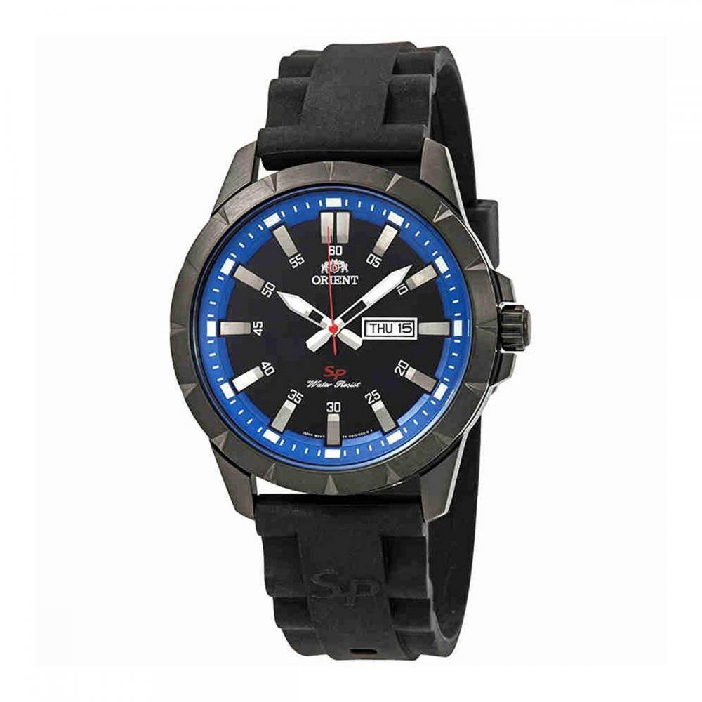 オリエント 腕時計 メンズ Orient Sport Black and Blue Dial Mens Watch FUG1X008Bオリエント 腕時計 メンズ