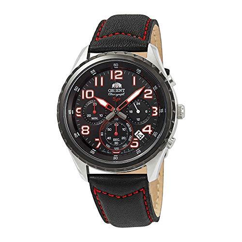 オリエント 腕時計 メンズ 【送料無料】Orient Sporty Chronograph Black Dial Men's Watch FKV01003Bオリエント 腕時計 メンズ