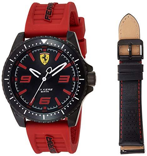 フェラーリ 腕時計 メンズ 【送料無料】Ferrari Men's XX KERS Stainless Steel Quartz Watch with Silicone Strap, Black, 21.6 (Model: 0830465)フェラーリ 腕時計 メンズ