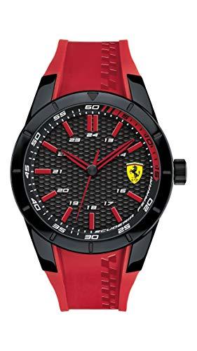 腕時計 フェラーリ メンズ 【送料無料】Ferrari 0830299 Men's RedRev Black Dial Red Silicone Strap Watch腕時計 フェラーリ メンズ