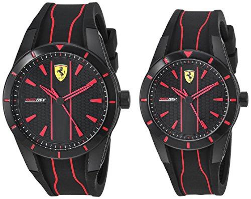 腕時計 フェラーリ メンズ 【送料無料】Ferrari RedRev Gift Set, Quartz Plastic and Silicone Strap Casual Watch, Black, Men, 870021腕時計 フェラーリ メンズ