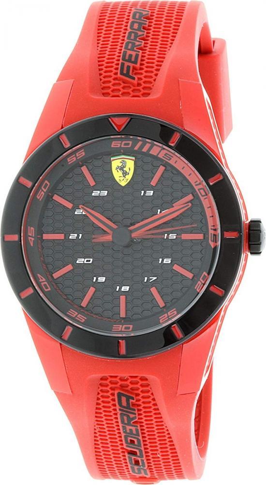 フェラーリ 腕時計 メンズ Ferrari Men's Redrev 0840005 Red Silicone Quartz Watchフェラーリ 腕時計 メンズ