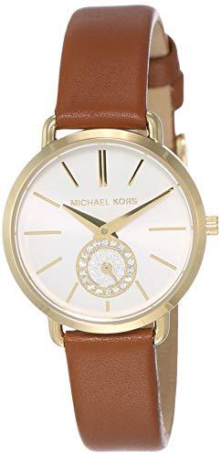 マイケルコース 腕時計 レディース マイケル・コース アメリカ直輸入 Michael Kors Women's Stainless Steel Quartz Watch with Leather Calfskin Strap, Brown, 12 (Model: MK2734)マイケルコース 腕時計 レディース マイケル・コース アメリカ直輸入