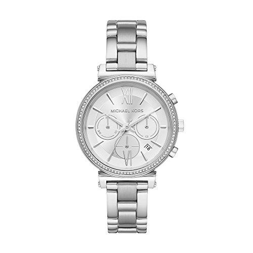 マイケルコース 腕時計 レディース マイケル・コース アメリカ直輸入 Michael Kors Women's Sofie Quartz Stainless-Steel Strap, Silver, 16 Casual Watch (Model: MK6575)マイケルコース 腕時計 レディース マイケル・コース アメリカ直輸入