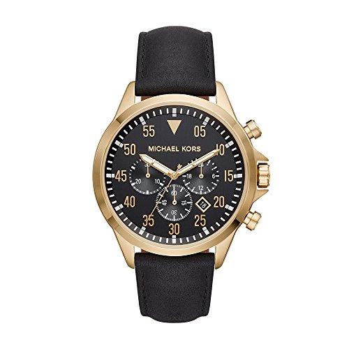 マイケルコース 腕時計 メンズ マイケル・コース アメリカ直輸入 【送料無料】Michael Kors Men's Gage Stainless Steel Quartz Leather Strap, Black, 22 Casual Watch (Model: MK8618)マイケルコース 腕時計 メンズ マイケル・コース アメリカ直輸入