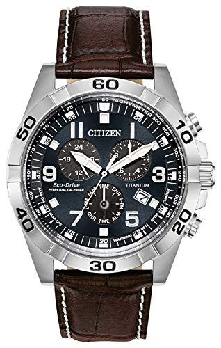 腕時計 シチズン 逆輸入 海外モデル 海外限定 【送料無料】Citizen Men's Eco-Drive Titanium Quartz Brown Leather Calfskin Strap Casual Watch (Model: BL5551-06L)腕時計 シチズン 逆輸入 海外モデル 海外限定