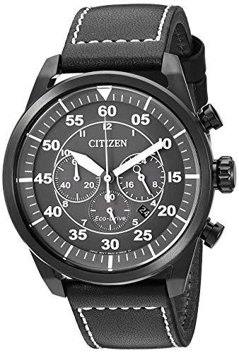 シチズン 逆輸入 海外モデル 海外限定 アメリカ直輸入 【送料無料】Citizen Men's Eco-Drive Stainless Steel Quartz Leather Calfskin Strap, Black, 22 Casual Watch (Model: CA4215-21H)シチズン 逆輸入 海外モデル 海外限定 アメリカ直輸入