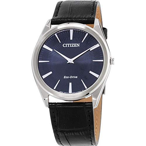 シチズン 逆輸入 海外モデル 海外限定 アメリカ直輸入 【送料無料】Men's Citizen Eco-Drive Stiletto Blue Dial Strap Watch AR3070-04Lシチズン 逆輸入 海外モデル 海外限定 アメリカ直輸入