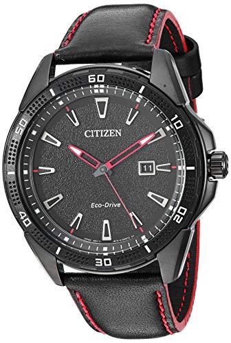 シチズン 逆輸入 海外モデル 海外限定 アメリカ直輸入 【送料無料】Citizen Men's Drive Stainless Steel Quartz Leather Calfskin Strap, Black, 22 Casual Watch (Model: AW1585-04E)シチズン 逆輸入 海外モデル 海外限定 アメリカ直輸入