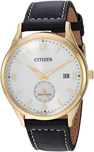 シチズン 逆輸入 海外モデル 海外限定 アメリカ直輸入 【送料無料】Citizen Men's Eco-Drive Stainless Steel Quartz Leather Calfskin Strap, Black, 20 Casual Watch (Model: BV1112-05A)シチズン 逆輸入 海外モデル 海外限定 アメリカ直輸入