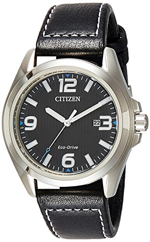 シチズン 逆輸入 海外モデル 海外限定 アメリカ直輸入 Citizen Men's AW1430-19E Black Leather Eco-Drive Fashion Watchシチズン 逆輸入 海外モデル 海外限定 アメリカ直輸入