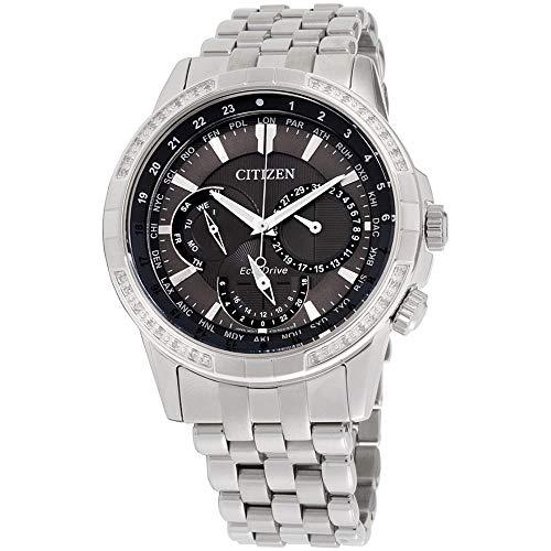 腕時計 シチズン 逆輸入 海外モデル 海外限定 【送料無料】Citizen Calendrier Grey Dial Stainless Steel Men's Watch BU2080-51H腕時計 シチズン 逆輸入 海外モデル 海外限定