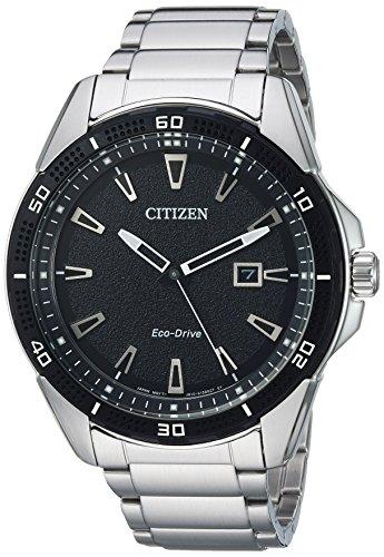 シチズン 逆輸入 海外モデル 海外限定 アメリカ直輸入 Citizen Men's Eco-Drive Quartz Stainless-Steel Strap, Silver, 21.5 Casual Watch (Model: AW1588-57E)シチズン 逆輸入 海外モデル 海外限定 アメリカ直輸入