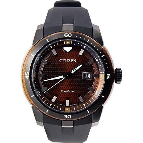 シチズン 逆輸入 海外モデル 海外限定 アメリカ直輸入 【送料無料】Citizen Ecosphere Brown Dial Silicone Strap Men's Watch AW1476-18Xシチズン 逆輸入 海外モデル 海外限定 アメリカ直輸入