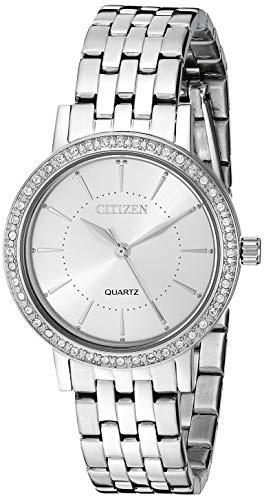 シチズン 逆輸入 海外モデル 海外限定 アメリカ直輸入 【送料無料】Citizen Women's Quartz Stainless-Steel Strap, Silver, 14 Casual Watch (Model: EL3040-80A)シチズン 逆輸入 海外モデル 海外限定 アメリカ直輸入
