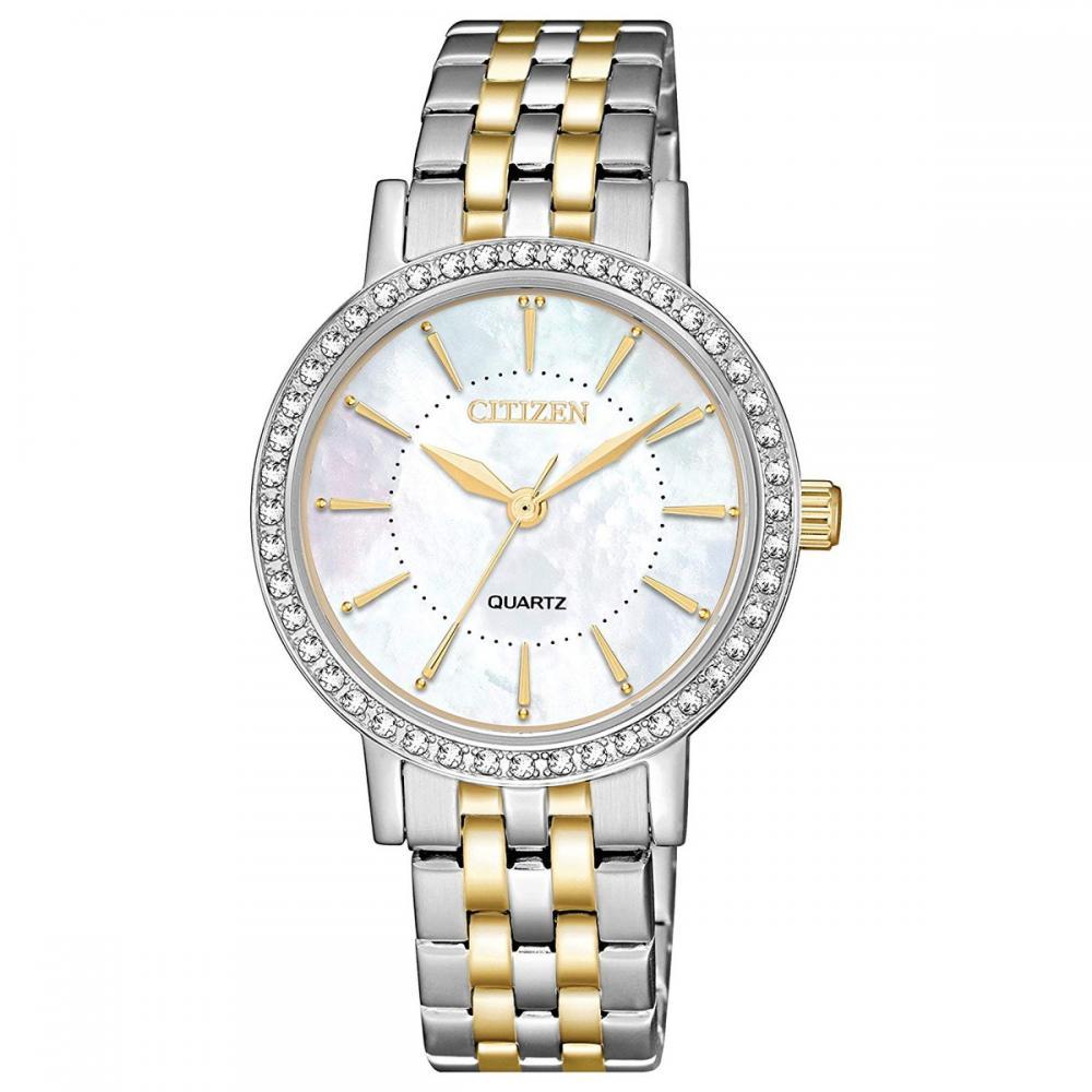 シチズン 逆輸入 海外モデル 海外限定 アメリカ直輸入 Citizen Women's Quartz Stainless-Steel Strap, Two Tone, 13.8 Casual Watch (Model: EL3044-89D)シチズン 逆輸入 海外モデル 海外限定 アメリカ直輸入