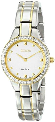 シチズン 逆輸入 海外モデル 海外限定 アメリカ直輸入 【送料無料】Citizen Eco-Drive Women's EX1364-59A Silhouette Analog Display Two Tone Watchシチズン 逆輸入 海外モデル 海外限定 アメリカ直輸入