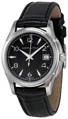 ハミルトン 腕時計 レディース Hamilton Women's H32311735 Jazzmaster Black Guilloche Dial Watchハミルトン 腕時計 レディース