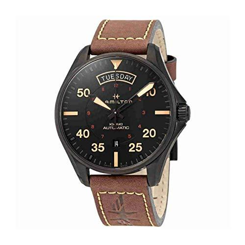 腕時計 ハミルトン メンズ 【送料無料】Hamilton Khaki Pilot Automatic Black Dial Men's Watch H64605531腕時計 ハミルトン メンズ