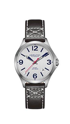 腕時計 ハミルトン メンズ 【送料無料】Hamilton Khaki Aviation Silver Dial Leather Strap Men's Watch H76225751腕時計 ハミルトン メンズ