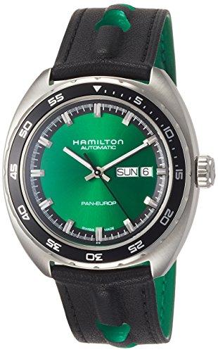 腕時計 ハミルトン メンズ 【送料無料】Hamilton American Classic Pan Europ Automatic Green Dial Men's Watch H35415761腕時計 ハミルトン メンズ