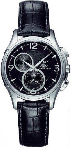 ハミルトン 腕時計 メンズ 【送料無料】Hamilton Men's H32372735 Jazzmaster Black Guilloche Dial Watchハミルトン 腕時計 メンズ