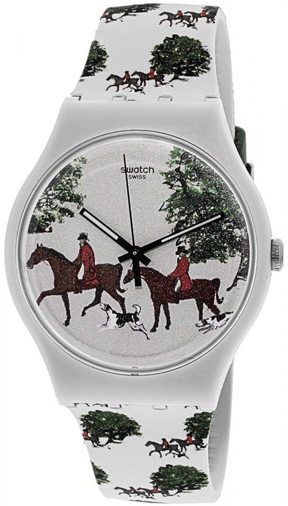 スウォッチ 腕時計 メンズ Swatch Red Jacket SUOT103 Tan Silicone Swiss Quartz Fashion Watchスウォッチ 腕時計 メンズ
