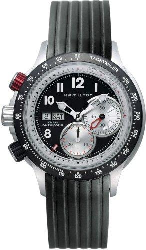 ハミルトン 腕時計 メンズ Hamilton Men's H71726333 Khaki Tachymiler Black Dial Watchハミルトン 腕時計 メンズ