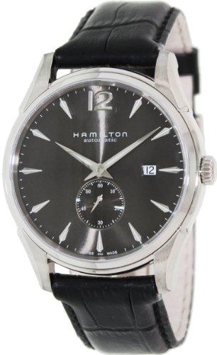 ハミルトン 腕時計 メンズ 【送料無料】Hamilton Men's H38655785 Jazzmaster Slim Petite Seconde Black Dial Watchハミルトン 腕時計 メンズ