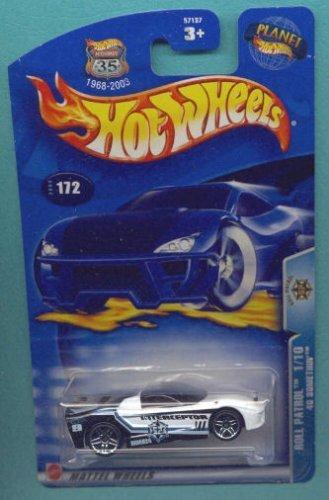 ホットウィール マテル ミニカー ホットウイール Hot Wheels 2003 1:64 Scale Roll Patrol Black & White 40 Something Die Cast Police Car #172ホットウィール マテル ミニカー ホットウイール