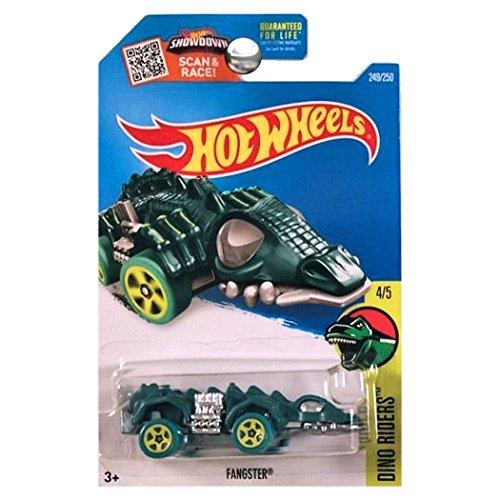ホットウィール マテル ミニカー ホットウイール 【送料無料】Hot Wheels 2016 Dino Rides Fangster Dinosaur Car Blue Greenホットウィール マテル ミニカー ホットウイール