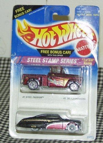 ホットウィール マテル ミニカー ホットウイール 【送料無料】Hot Wheels Steel Stamp Series 1:64 Scale Die Cast Cars #1 Steel Passion #3 '56 Flashsiderホットウィール マテル ミニカー ホットウイール