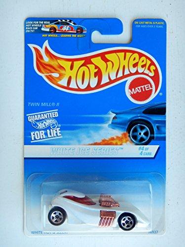 ホットウィール マテル ミニカー ホットウイール 【送料無料】HOT WHEELS WHITE ICE SERIES #4 OF 4 CARS, WHITE TWIN MILL II BLUE CARDホットウィール マテル ミニカー ホットウイール