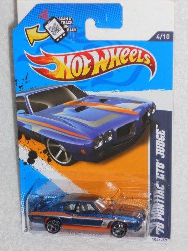 <title>無料ラッピングでプレゼントや贈り物にも 逆輸入並行輸入送料込 ホットウィール マテル ミニカー ホットウイール 送料無料 新着セール Hot Wheels Muscle Mania - GM '12 '70 Pontiac GTO Judge Blue and orange</title>