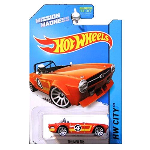 ホットウィール マテル ミニカー ホットウイール 【送料無料】Hot wheels Mission Madness Triumph TR6 RARE special scavenger hunt edition vehicle 4/4 hw city 2014ホットウィール マテル ミニカー ホットウイール