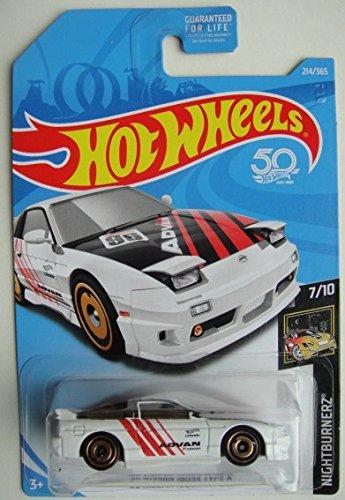 ホットウィール マテル ミニカー ホットウイール Hot Wheels 2018 50th Anniversary '96 Nissan 180SX Type X 214/365, 白いホットウィール マテル ミニカー ホットウイール