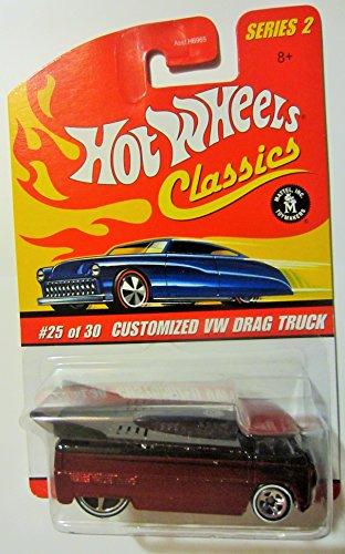 ホットウィール マテル ミニカー ホットウイール 【送料無料】Hot Wheels Classics Series 2 Customized Red VW Drag Truck 25/30 Collector Carホットウィール マテル ミニカー ホットウイール